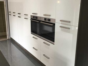 Modern Kitchen with White Gloss Doors