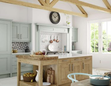 Clonmel Painted and Knotty Kitchen